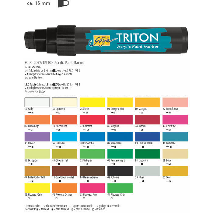 Triton Acrylic Paint Marker 15 mm, Gold Bild 3