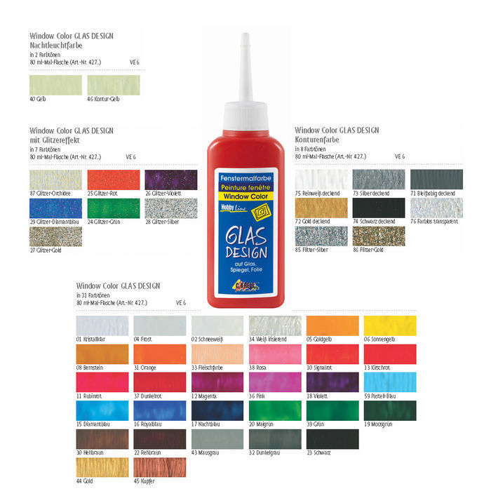 Glas-Design Window-Color-Farbe 80ml Hautfarbe Bild 2