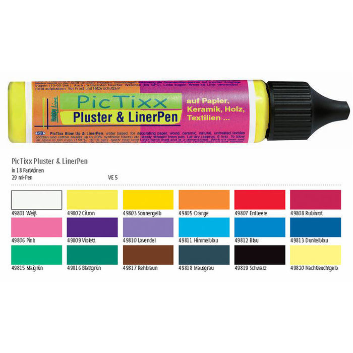 Hobby Line PicTixx Pluster Pen, 29ml, Citron Bild 2