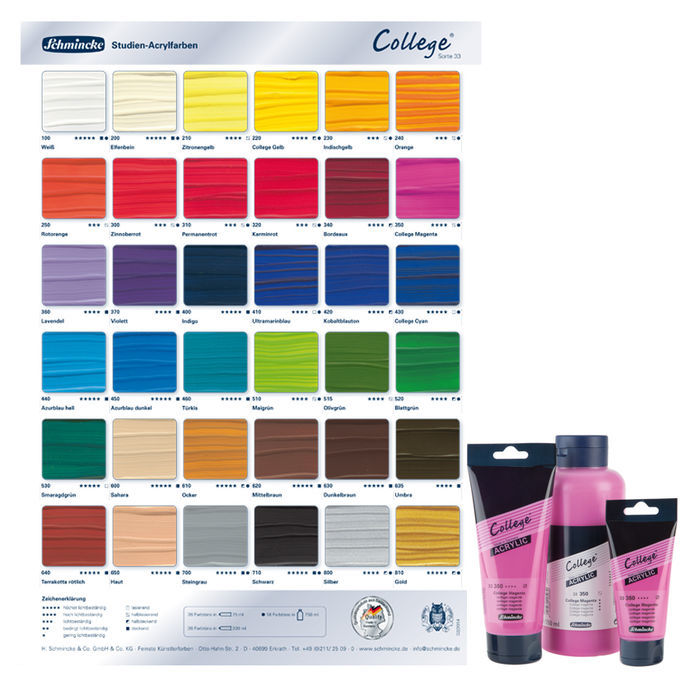 College Acrylic Acrylfarbe, 750ml, College Magenta Bild 2