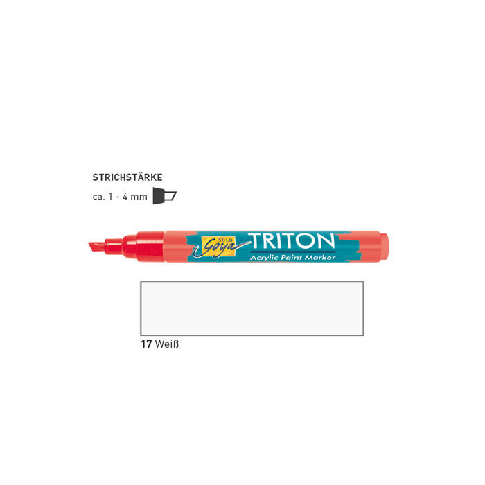Triton Acrylic Paint Marker 1-4 mm, weiss