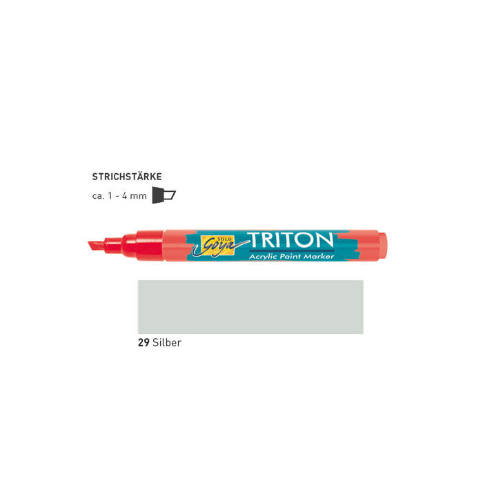 Triton Acrylic Paint Marker 1-4 mm, Silber