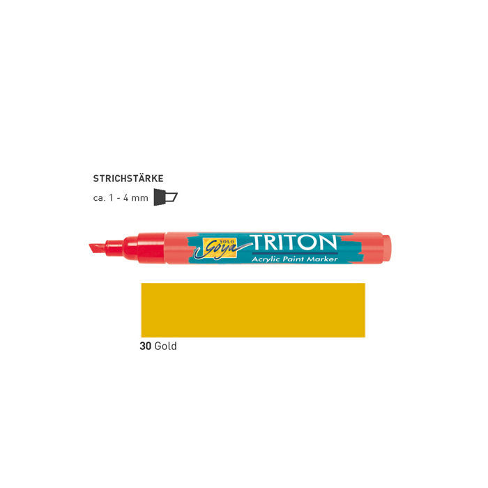 Triton Acrylic Paint Marker 1-4 mm, Gold