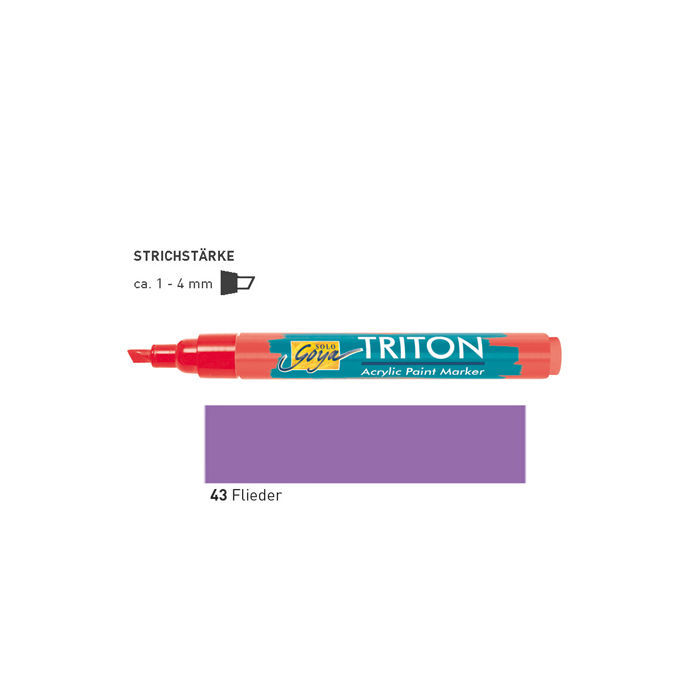 Triton Acrylic Paint Marker 1-4 mm, Flieder
