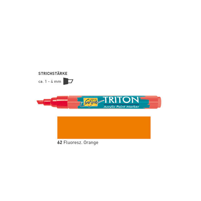 Triton Acrylic Marker 1-4 mm, Fluoresz. Orange