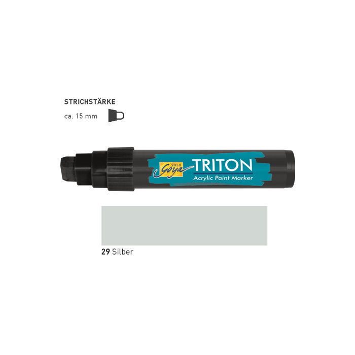Triton Acrylic Paint Marker 15 mm, Silber