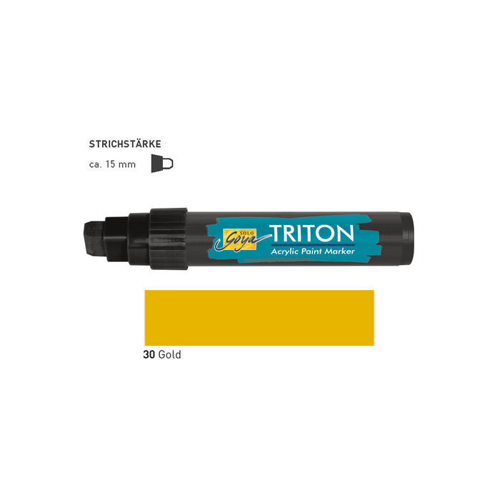 Triton Acrylic Paint Marker 15 mm, Gold