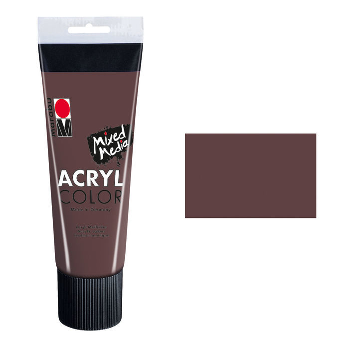 Marabu Acryl Color, 225 ml, Dunkelbraun