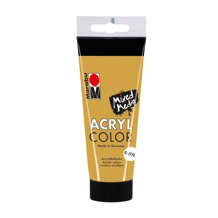 Marabu Acryl Color, 100 ml, Glitter-Gold