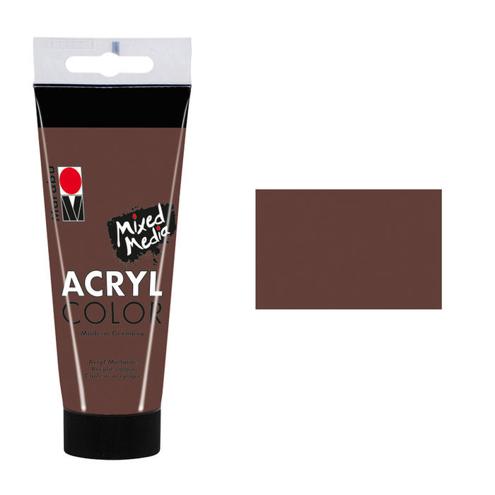 Marabu Acryl Color, 100 ml, Mittelbraun