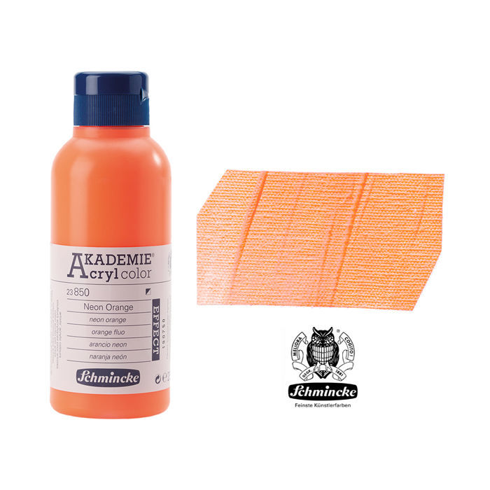 AKADEMIE  Acryl color, Neon Orange, 250 ml