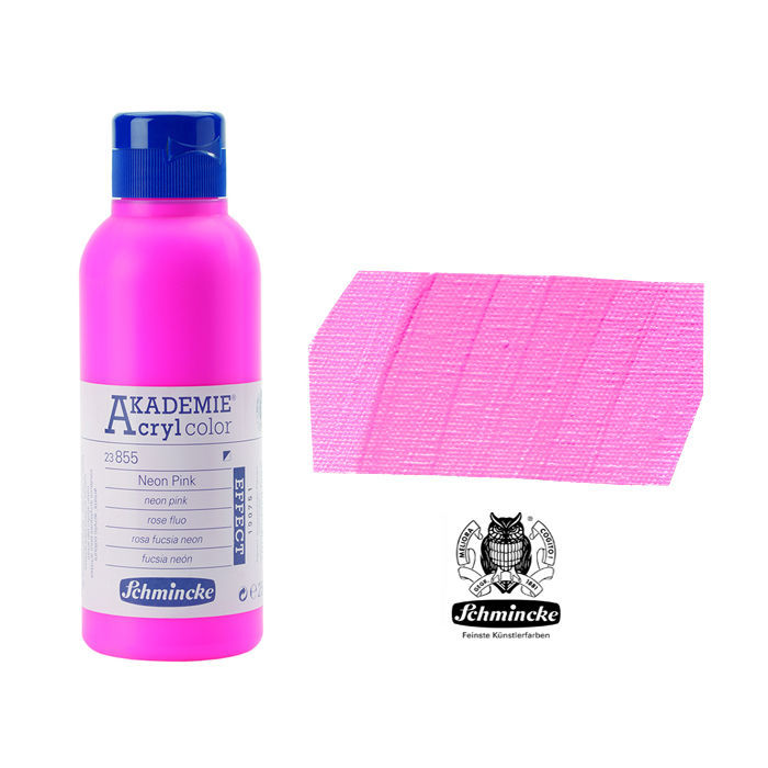 AKADEMIE  Acryl color, Neon Pink, 250 ml