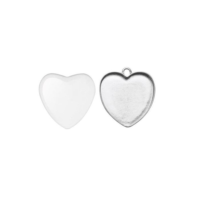 Cabochon Anhänger Herz, 25x27mm - Cabochon Perlen, Schmuck und mehr ...