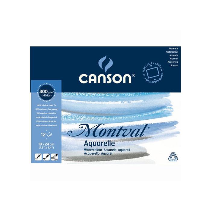 12 Blatt Canson Montval Aquarellpapier 19 x 24 cm