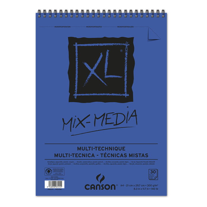 Canson Mix Media Block A4, 21x29,7cm, 30 Blatt