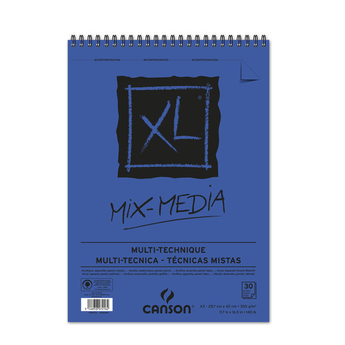 Canson Mix Media Block, 29,7x42cm, 30 Blatt