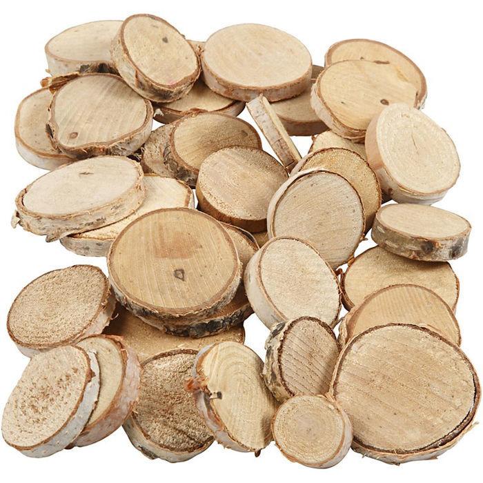 Holzscheiben mix 600g 25 45mm sonstige holzartikel for Houten schijven decoratie