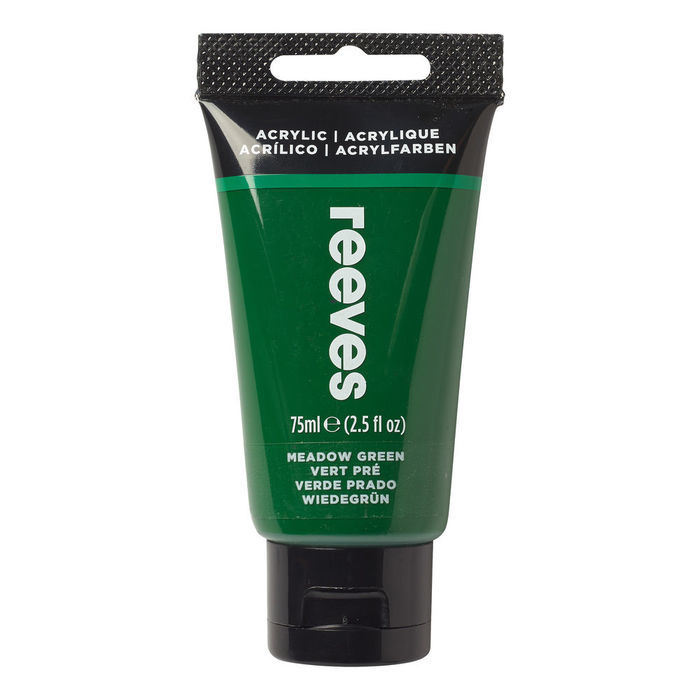 Reeves Acrylfarbe 75 ml, Grasgrün