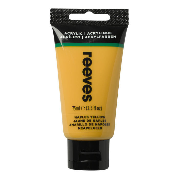 SALE Reeves Acrylfarbe 75 ml, Neapelgelb