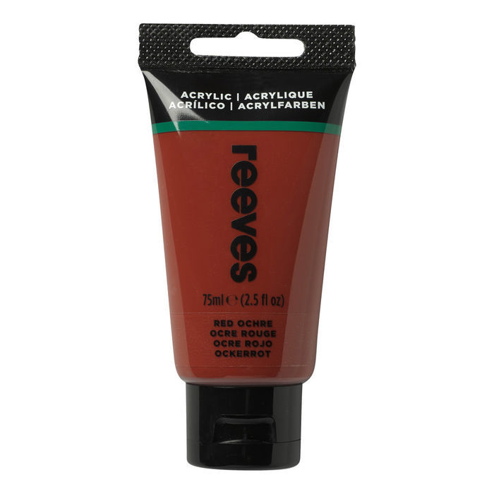 Reeves Acrylfarbe 75 ml, Roter Ocker