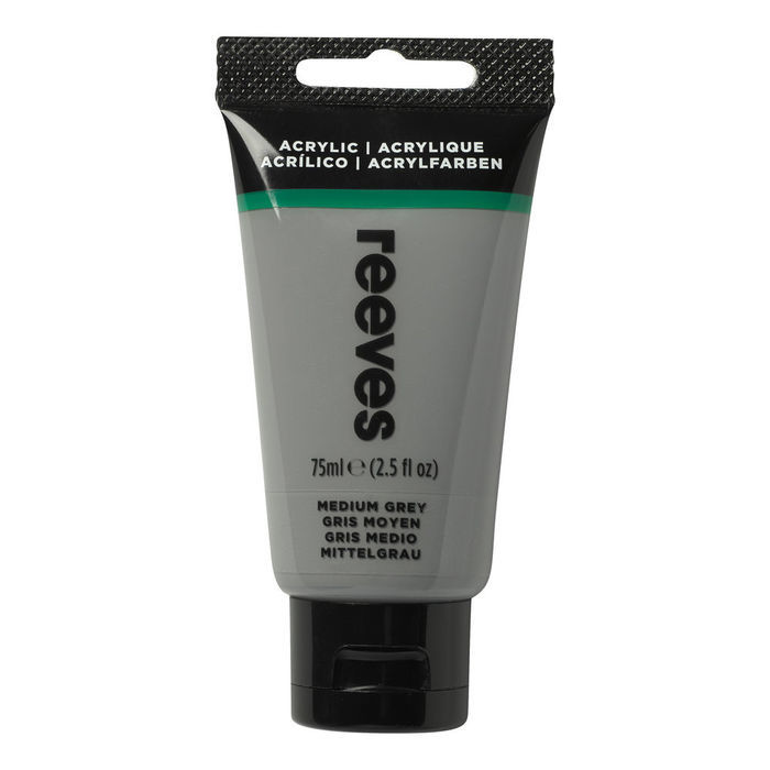 SALE Reeves Acrylfarbe 75 ml, Mittelgrau