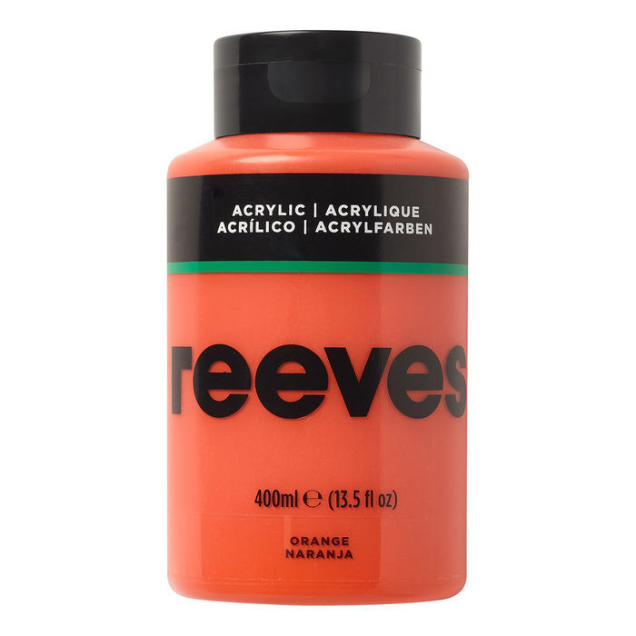Reeves Acrylfarbe 400 ml, Orange