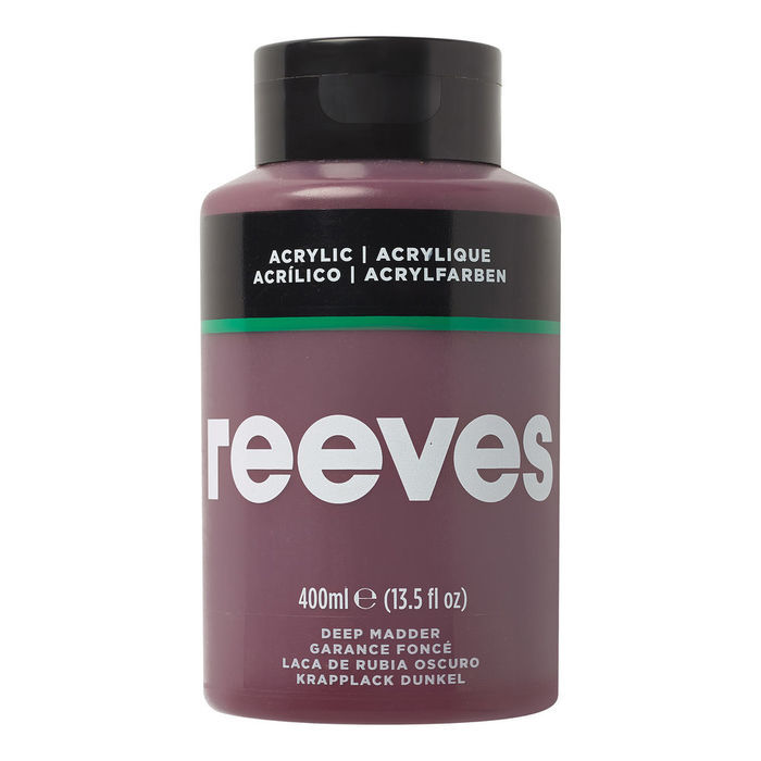 SALE Reeves Acrylfarbe 400 ml, Krapplack dunkel