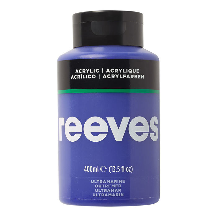 Reeves Acrylfarbe 400 ml, Ultramarinblau