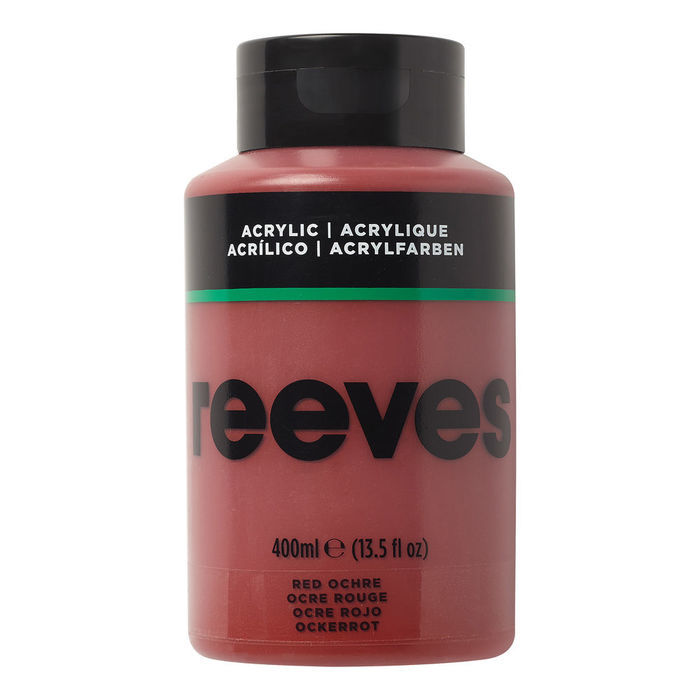 Reeves Acrylfarbe 400 ml, Roter Ocker
