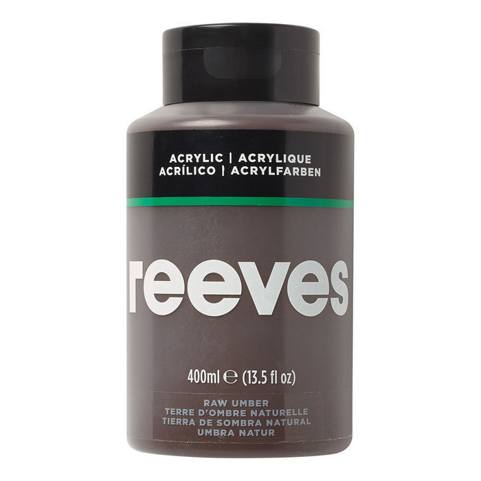 Reeves Acrylfarbe 400 ml, Umbra natur