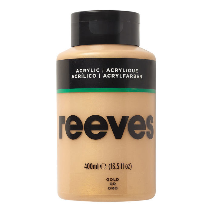 SALE Reeves Acrylfarbe 400 ml, Gold