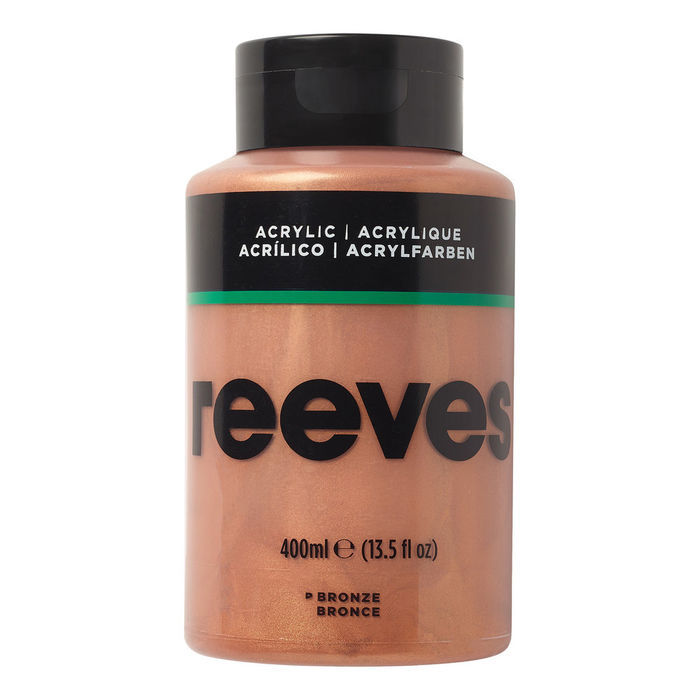 Reeves Acrylfarbe 400 ml, Bronze