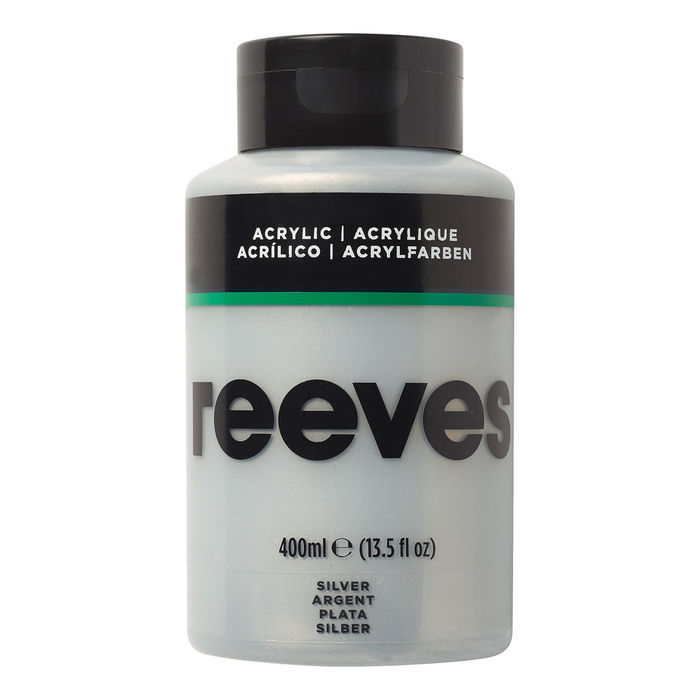 SALE Reeves Acrylfarbe 400 ml, Silber