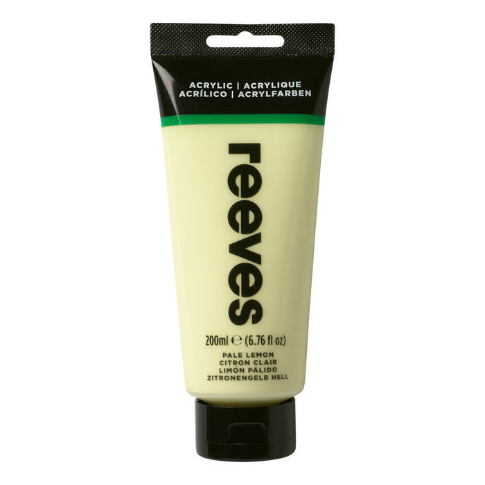 SALE Reeves Acrylfarbe 200 ml, Zitronengelb hell