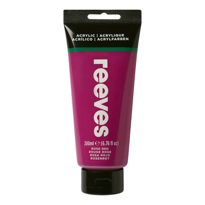 Reeves Acrylfarbe 200 ml, Rosenrot