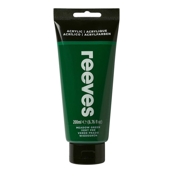 SALE Reeves Acrylfarbe 200 ml, Grasgrün