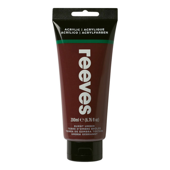 SALE Reeves Acrylfarbe 200 ml, Umbra gebrannt