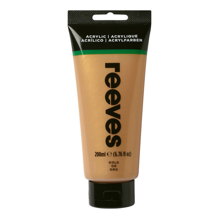 SALE Reeves Acrylfarbe 200 ml, Gold
