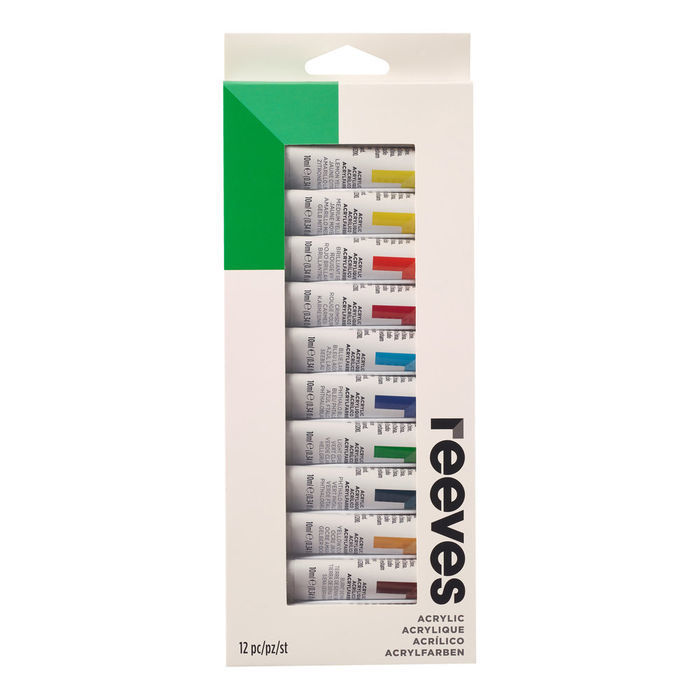 SALE Reeves Acrylfarben-Set 12 Tuben à 10ml