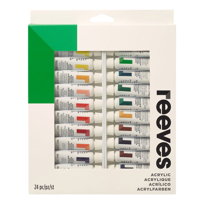 Reeves Acrylfarben-Set 24 Tuben à 10ml