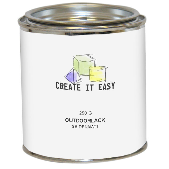 NEU Create It Easy Outdoorlack farblos, seidenmatt, 250 ml lösungsmittelhaltig