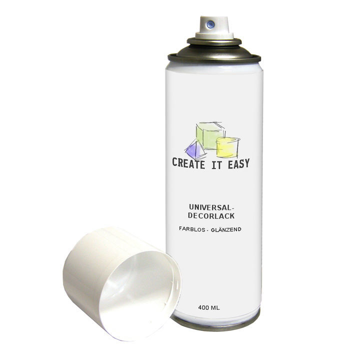 NEU Create It Easy Universal-Decorlack-Spray Glänzend, 400 ml, schnelltrocknend