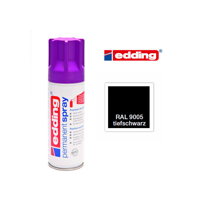 Edding Permanent Spray, 200ml, Tiefschwarz