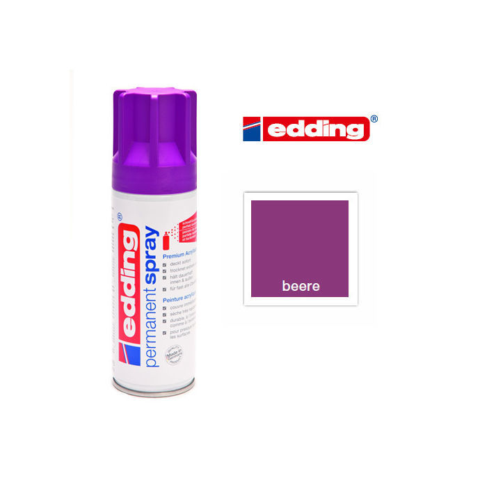 Edding Permanent Spray, 200ml, Beere
