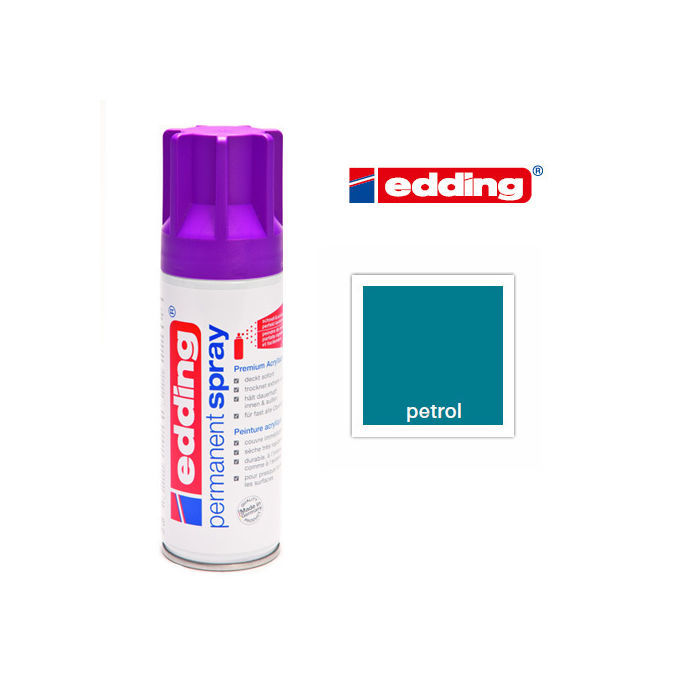 Edding Permanent Spray, 200ml, Petrol