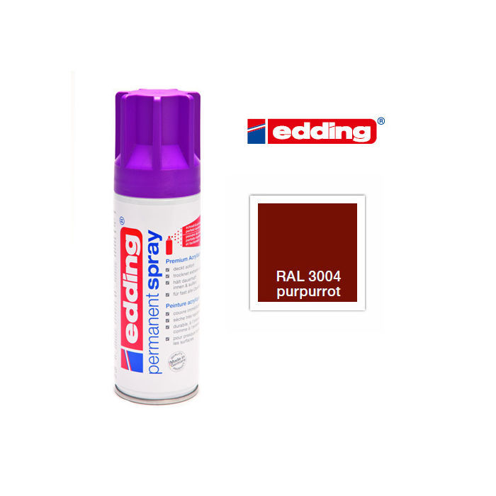 Edding Permanent Spray, 200ml, Purpurrot