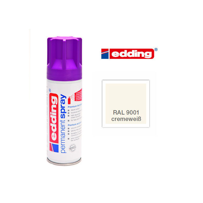 Edding Permanent Spray, 200ml, Cremeweiß