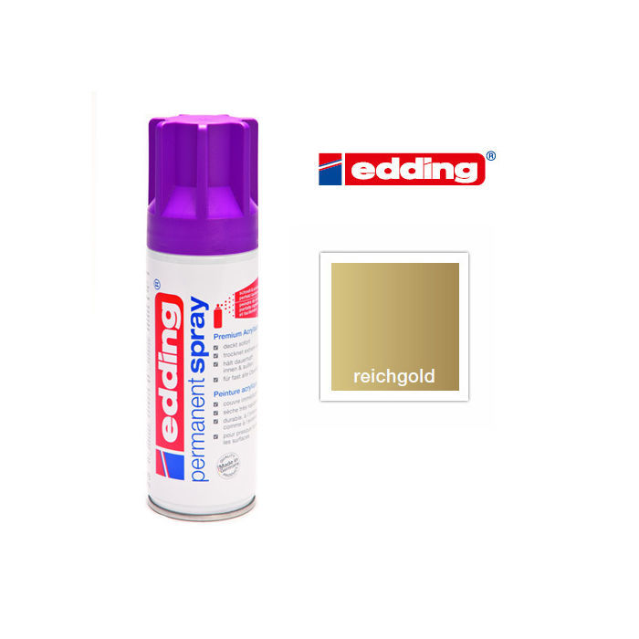 Edding Permanent Spray, 200ml, Reichgold