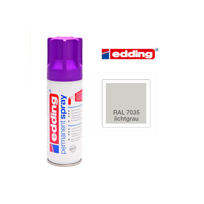 Edding Permanent Spray, 200ml, Lichtgrau