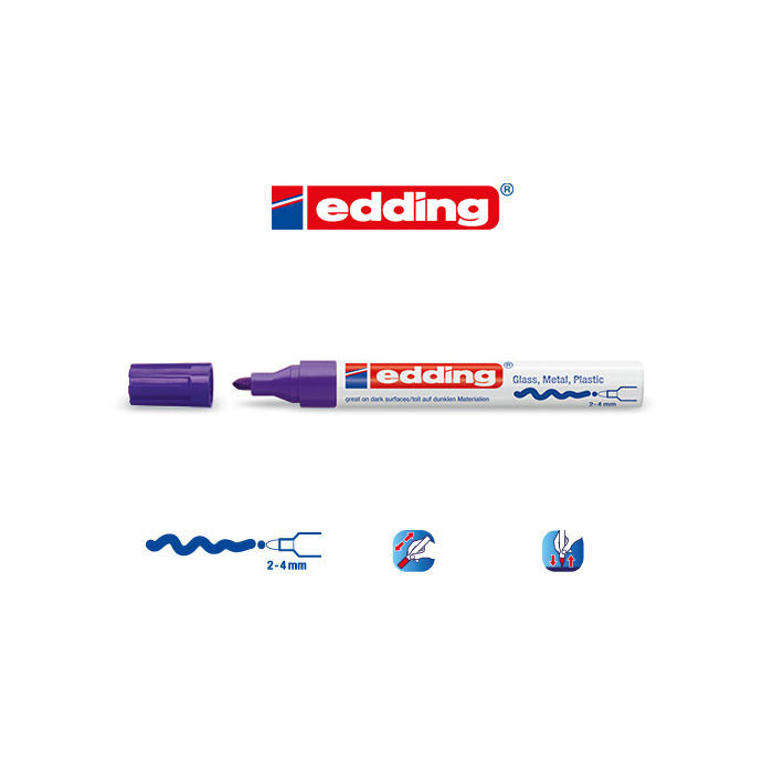 Edding 750 paint marker, 2-4mm, Violett